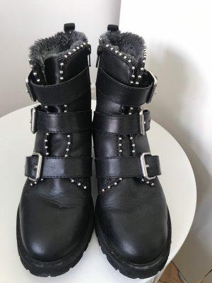 Hallhuber Booties black leather