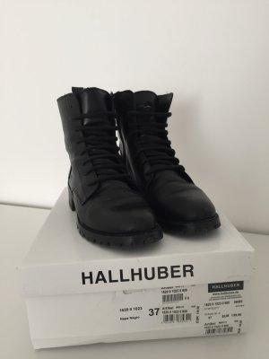 Hallhuber Patucos con cordones negro