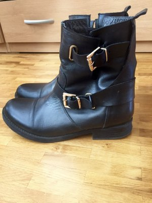 Hallhuber Low boot noir cuir