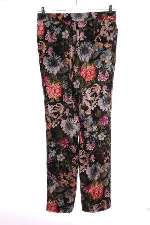 Hallhuber Stoffen broek bloemenprint casual uitstraling