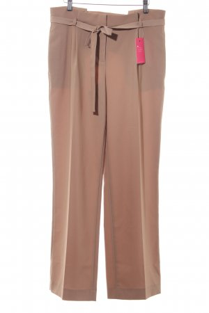 Hallhuber Jersey Pants light brown elegant