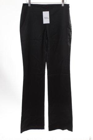 Hallhuber Stoffhose schwarz schlichter Stil