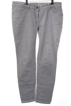Hallhuber Straight-Leg Jeans hellgrau Casual-Look