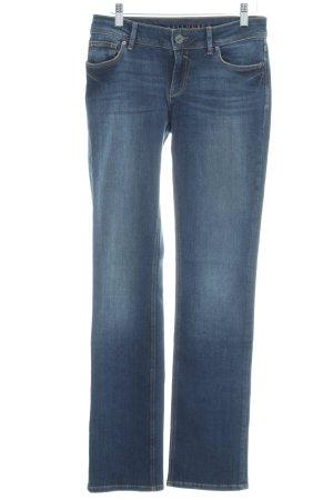 Hallhuber Straight-Leg Jeans blau Casual-Look