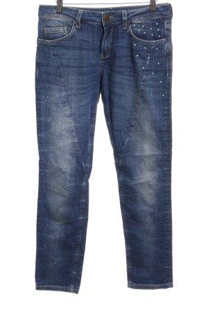 Hallhuber Straight-Leg Jeans stahlblau Casual-Look