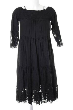Hallhuber Robe de plage noir Look de plage
