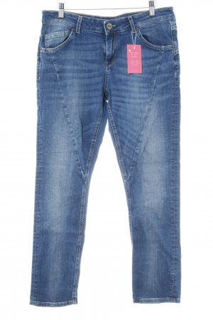 Hallhuber Stretch Jeans blau Washed-Optik