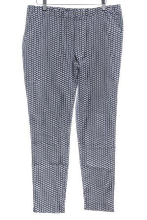 Hallhuber Stretch Jeans weiß-dunkelblau Motivdruck Casual-Look