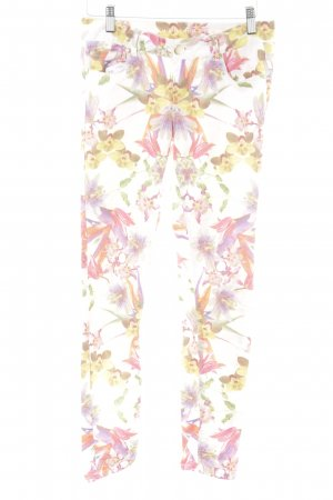 Hallhuber Stretchhose florales Muster Casual-Look