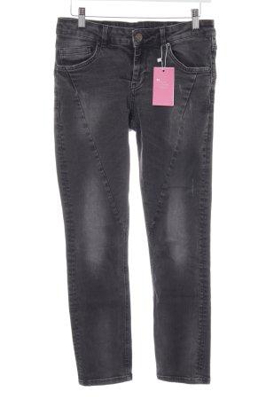 Hallhuber Pantalone elasticizzato grigio-grigio scuro stile da moda di strada