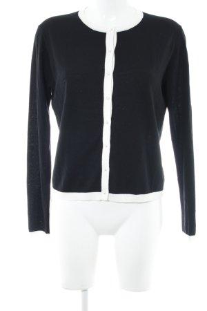 Hallhuber Strick Cardigan schwarz-weiß Casual-Look