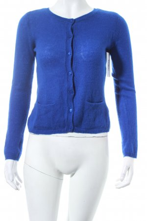 Hallhuber Strick Cardigan blau klassischer Stil