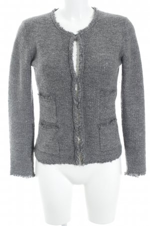 Hallhuber Strick Cardigan grau-silberfarben Elegant