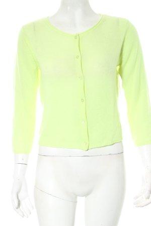 Hallhuber Strick Cardigan wiesengrün-limettengelb minimalistischer Stil