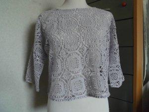 Hallhuber Pull en crochet violet