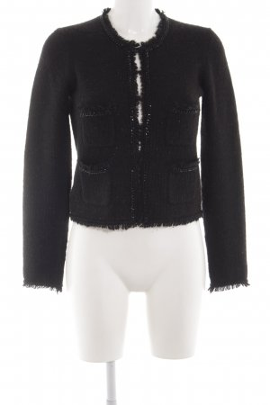 Hallhuber Knitted Blazer black wet-look