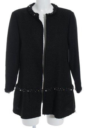 Hallhuber Blazer en maille tricotée noir élégant