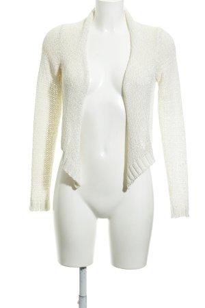 Hallhuber Boléro en tricot crème style décontracté