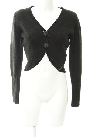 Hallhuber Boléro en tricot noir style décontracté