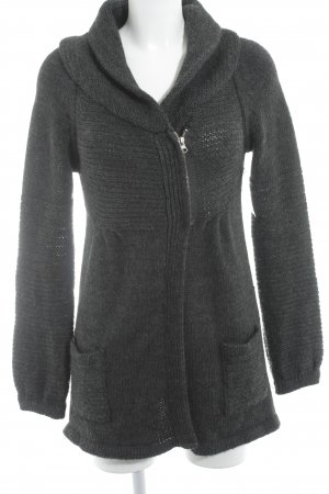 Hallhuber Strickjacke anthrazit Casual-Look