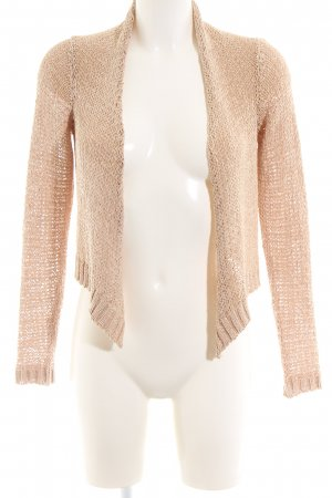 Hallhuber Strickjacke nude Zopfmuster Casual-Look