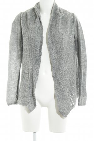 Hallhuber Strickjacke grau Casual-Look