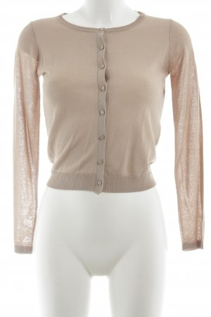 Hallhuber Strickjacke nude Casual-Look