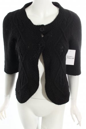 Hallhuber Strickjacke schwarz Business-Look