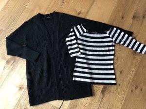 Hallhuber Strickjacke + Shirt, Gr. S/M