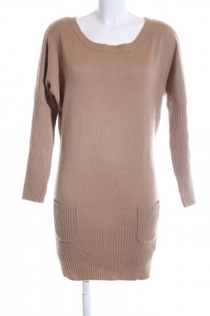 Hallhuber Strickkleid bronzefarben Casual-Look
