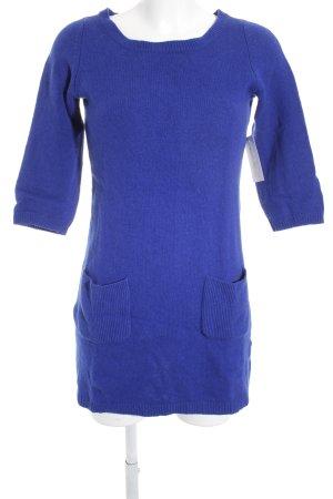 Hallhuber Strickkleid blau Casual-Look