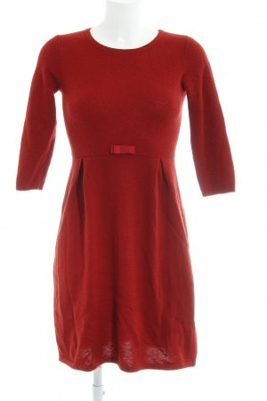 Hallhuber Knitted Dress red casual look