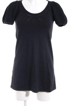 Hallhuber Strickkleid schwarz Casual-Look