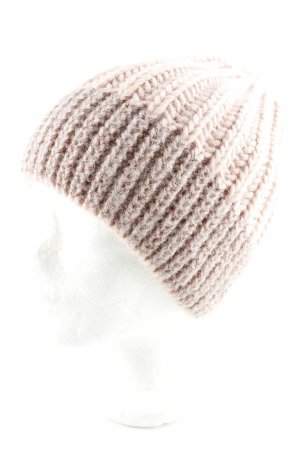 Hallhuber Knitted Hat dusky pink-nude casual look