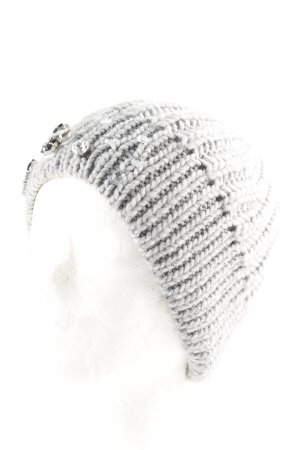 Hallhuber Knitted Hat light grey Jewelry Ornaments