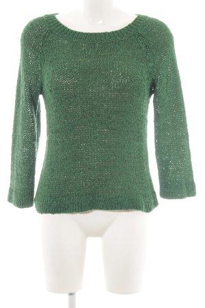Hallhuber Strickpullover grün Casual-Look