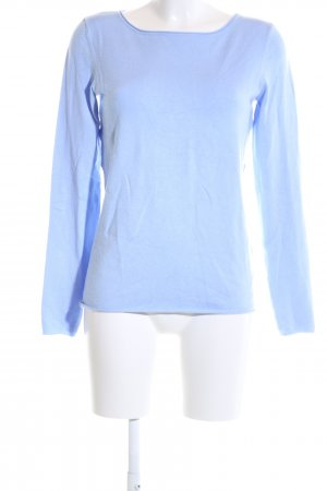 Hallhuber Strickpullover blau Casual-Look