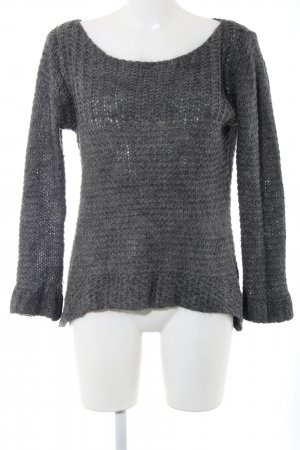 Hallhuber Strickpullover hellgrau Business-Look