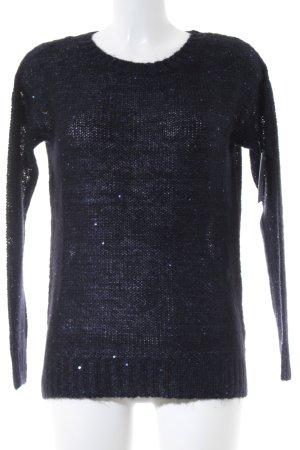 Hallhuber Strickpullover dunkelblau Casual-Look