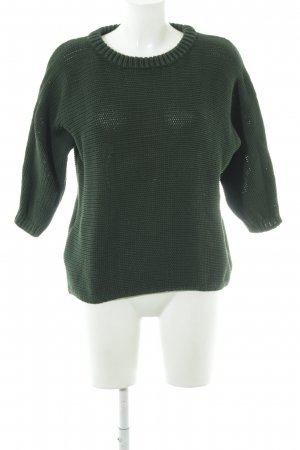 Hallhuber Strickpullover dunkelgrün Casual-Look