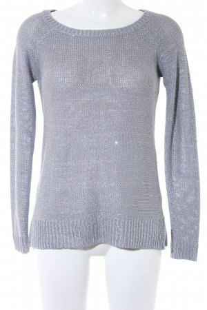 Hallhuber Strickpullover grau-silberfarben Casual-Look