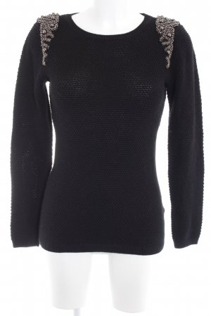 Hallhuber Knitted Sweater black Paris-Look