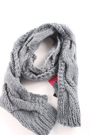 Hallhuber Sciarpa lavorata a maglia grigio chiaro punto treccia stile casual