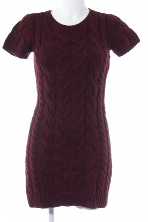 Hallhuber Knitted Jumper bordeaux cable stitch casual look