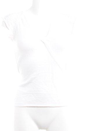 Hallhuber Strickshirt weiß Romantik-Look