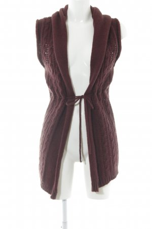 Hallhuber Knitted Vest blackberry-red casual look