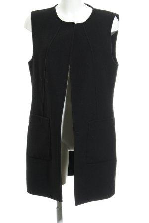 Hallhuber Gilet tricoté noir style décontracté
