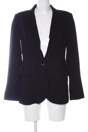 Hallhuber Sweatblazer schwarz Business-Look