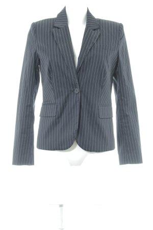 Hallhuber Sweat Blazer dark blue-white pinstripe business style