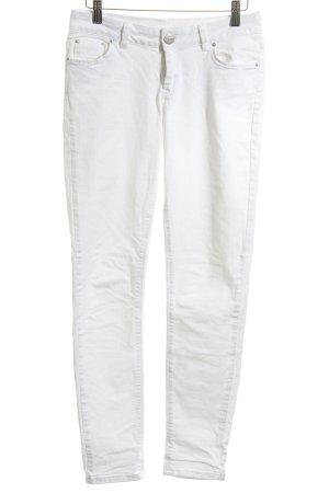 Hallhuber Pantalone fitness bianco stile casual